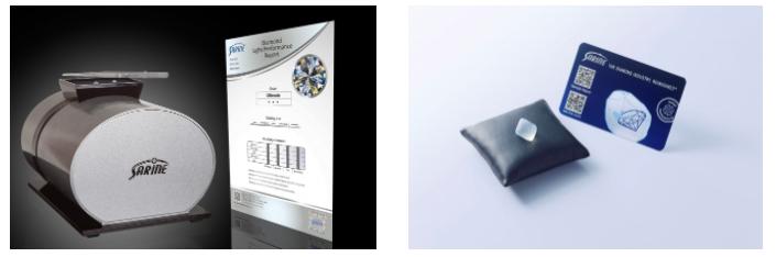 エクセルコダイヤモンドサリネ・ライト +原石模型